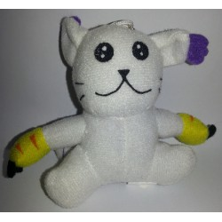 "Peluche porte-clef digimon ""gatomon"""