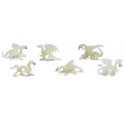 Figurine safari tube de 6 dragons