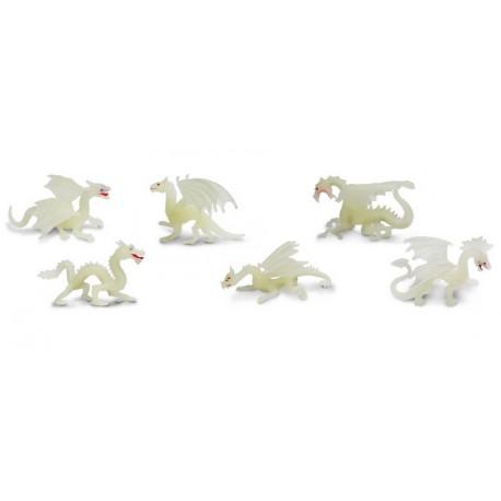 Figurine safari tube de 6 dragons