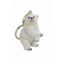Figurine porte-clef ours polaire debout