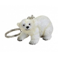 Figurine porte-clef ours polaire joueur