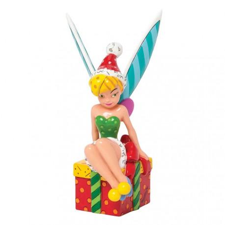 Figurine disney britto f e clochette sur boite cadeau - Fee clochette assise ...