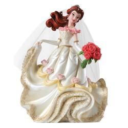 Figurine disney showcase haute couture - belle en robe de mariée - belle wedding