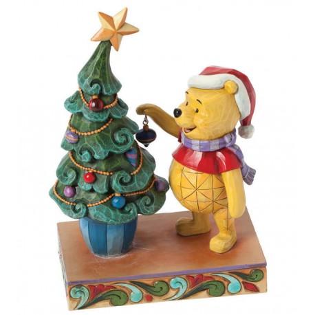 Figurine disney tradition winnie l 39 ourson et le sapin de - Winnie l ourson noel ...