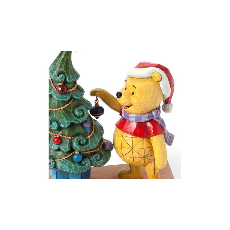 figurine disney tradition winnie l 39 ourson et le sapin de no l trim the tree with me. Black Bedroom Furniture Sets. Home Design Ideas