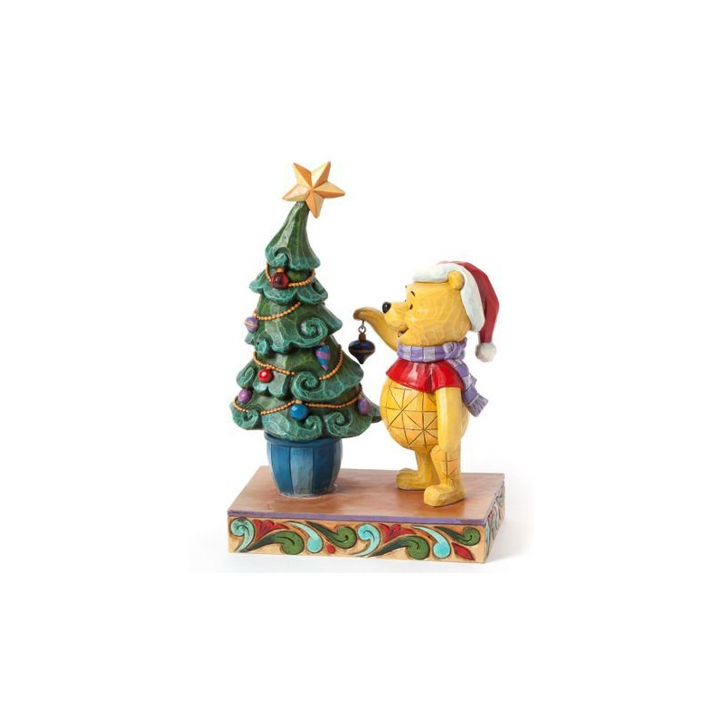Figurine disney tradition winnie l ourson et le sapin de - Winnie l ourson noel ...
