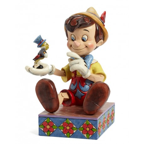 """Figurine disney tradition pinocchio et jiminy cricket """"75 ans"""" - just give a little whistle """"75th anniversary"""""""