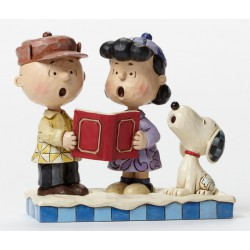 Figurine jim shore peanuts peace on earth - charlie brown, lucy et snoopy