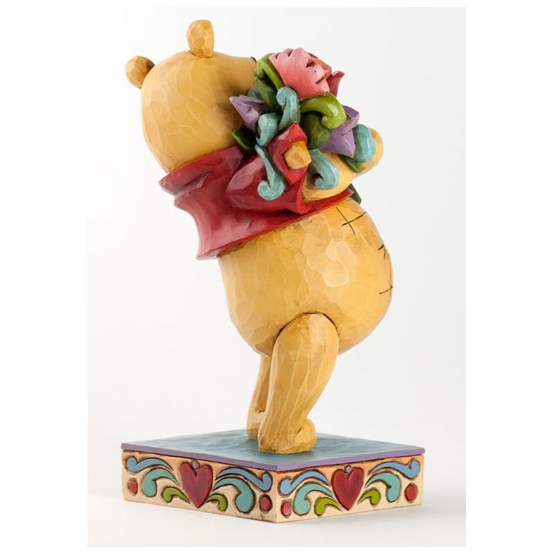 figurine disney tradition winnie l ourson et le bouquet de fleurs pooh with flowers. Black Bedroom Furniture Sets. Home Design Ideas
