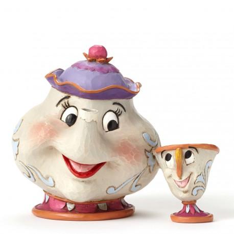 Figurine disney tradition madame samovar et zip - mrs potts and chip