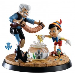 Figurine disney a moment in time scenette - pinocchio et gepetto