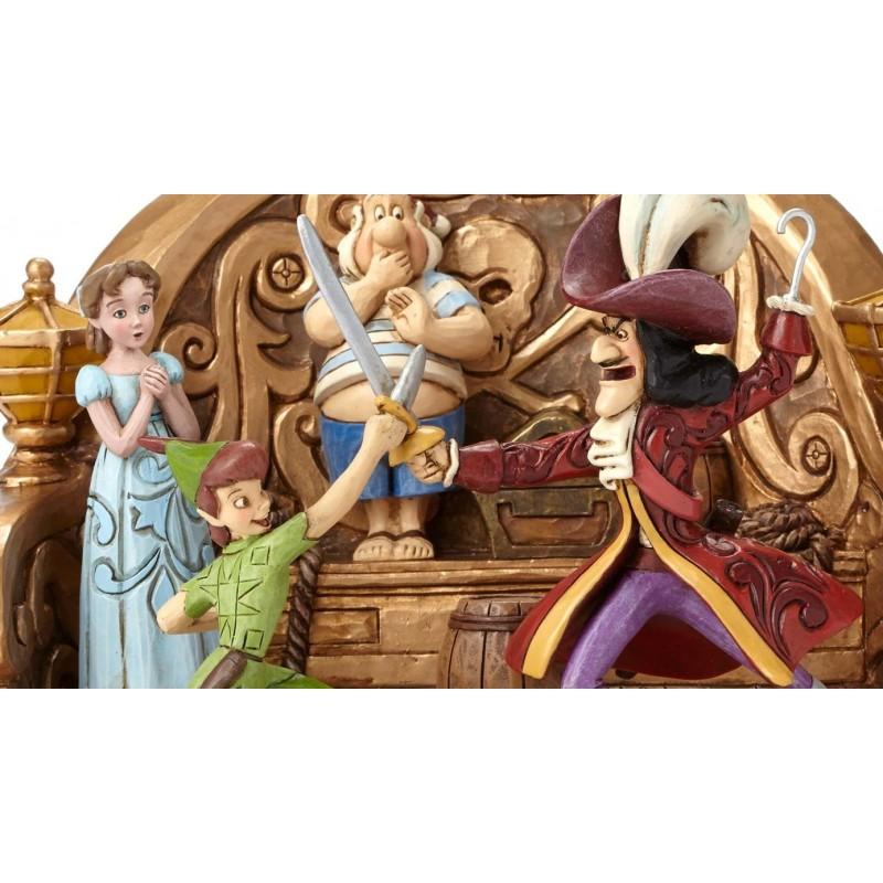 Figurine disney tradition scenette peter pan et capitaine - Peter pan et capitaine crochet ...