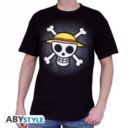 One piece t-shirt - skull with map - taille XXL