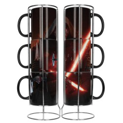 Star Wars set 3 mugs céramique Kylo Lightsaber