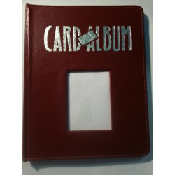 Portfolio window card way collector album bordeau - 4 cases