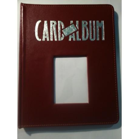 Portfolio window card way collector album bordeau - 4 cases