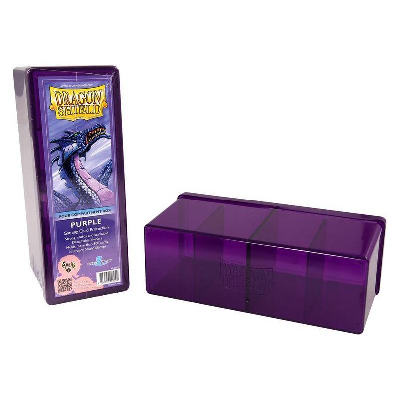 deck box boite de rangement 4 compartiments dragon shield mauve. Black Bedroom Furniture Sets. Home Design Ideas