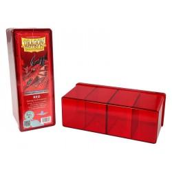 Deck box boite de rangement 4 compartiments dragon shield rouge