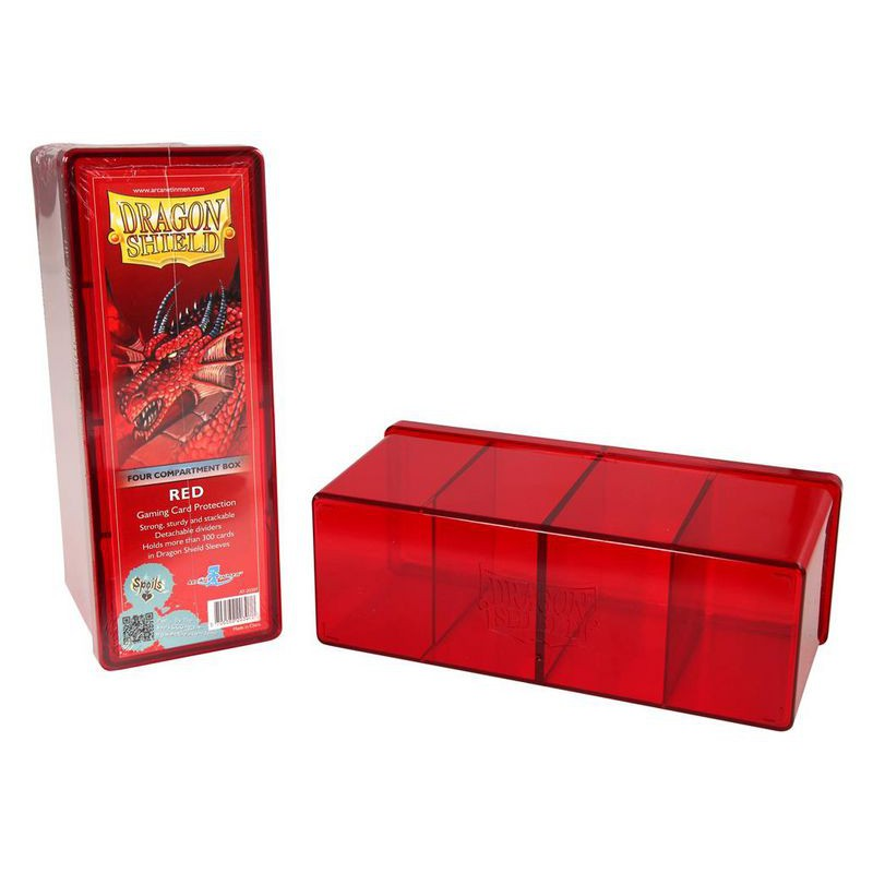 deck box boite de rangement 4 compartiments dragon shield. Black Bedroom Furniture Sets. Home Design Ideas