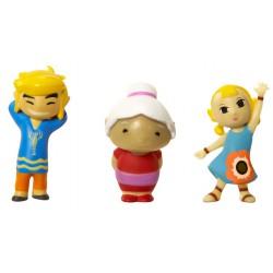 Micro figurine nintendo Zelda : pack de 3 figurines link, mémé et arielle