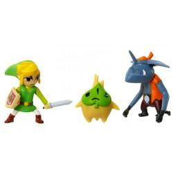 Micro figurine nintendo Zelda : pack de 3 figurines link, makar et bokoblin