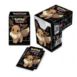 Deck box illustrée boite de rangement ultra pro pokemon - eevee evolie