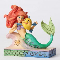 Figurine Disney Tradition Ariel et Polochon - Fun and Friends Ariel with Flounder