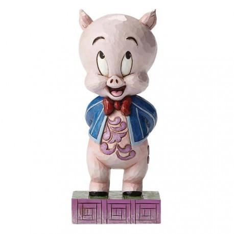 Figurine looney tunes by jim shore porky le cochon - porky pig it's p-p-p-porky