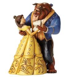 Figurine disney tradition la belle et la bête dansant une valse - belle & beast moonlight waltz