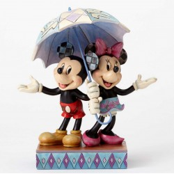 Figurine Disney Tradition Mickey et Minnie romantique sous le parapluie - Mickey and Minnie Sharing an Umbrella