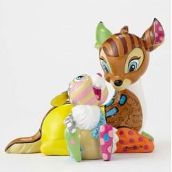Figurine Disney Britto Bambi et Panpan 75 ans- Bambi and Thumper