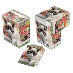 Deck box illustrée boite de rangement ultra pro grumpy cat flowers