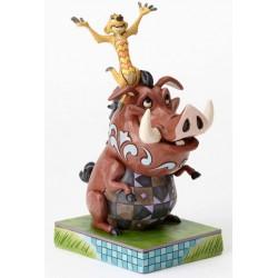 Figurine Disney Tradition Le Roi Lion - Timon and Pumbaa Hakuna Matata Carefree Cohorts