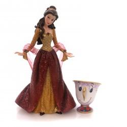 Figurine disney showcase belle et zip collection noël haute couture - belle with chip ornament