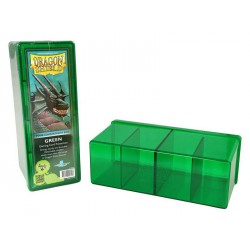 Deck box boite de rangement 4 compartiments dragon shield vert