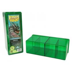 Deck box boite de rangement 4 compartiments dragon shield vert