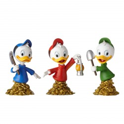 Figurine disney showcase buste Riri, Fifi et Loulou - Huey, Dewey and Louie mini busts