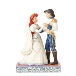 Figurine disney tradition Ariel et son Prince charmant Eric les mariés