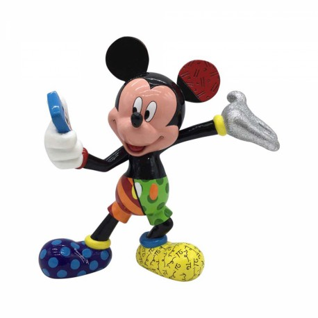 Figurine disney britto mickey mouse selfie - mickey mouse selfie