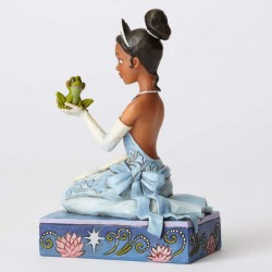 Figurine disney tradition Princesse Tiana et la Grenouille - Resilient and Romantic Tiana with Frog