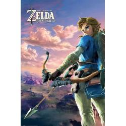 Legend of Zelda poster Breath of the Wild - Hyrule Scene Landscape