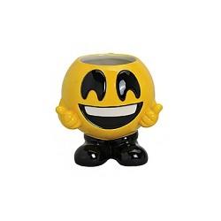 Mug en céramique émoticon sur pieds qui sourit