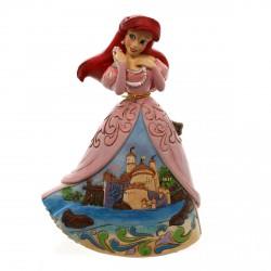 Figurine Disney Tradition Ariel la petite Sirène en robe de Bal Château - Sanctuary by the Sea