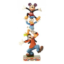 Figurine Disney Tradition Dingo, Donald et Mickey - Folk Whimsical