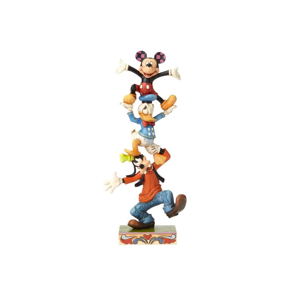 Figurine disney tradition dingo donald et mickey folk - Donald et dingo ...