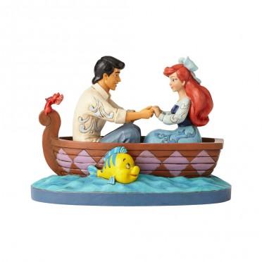 Figurine Disney Tradition Ariel la Petite Sirène et le Prince Eric sur la barque