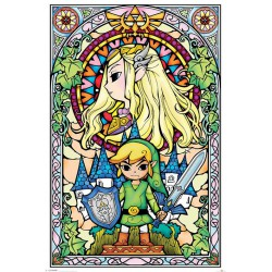 The Legend of Zelda poster Stained Glass