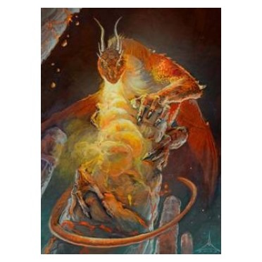 Protège-cartes illustré Wizard's Choice Picture standard - Dragon of the Lava Mountains