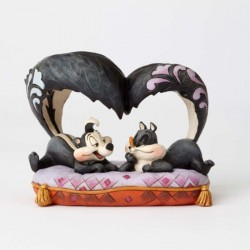 Figurine Looney Tunes by Jim Shore Pépé le putois et Pénélope - Hello Chérie !
