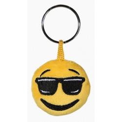 Porte-clé Emoticon en peluche avec les lunettes de soleil
